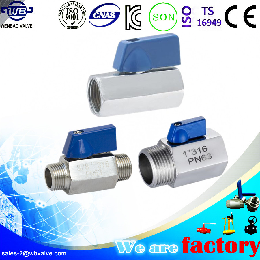 CF8M stainless steel mini ball valve factory