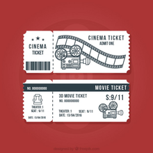 Free Sample Movie ticket/Bus ticket/Admission tickets Anti-counterfeiting Printing Service in Factory