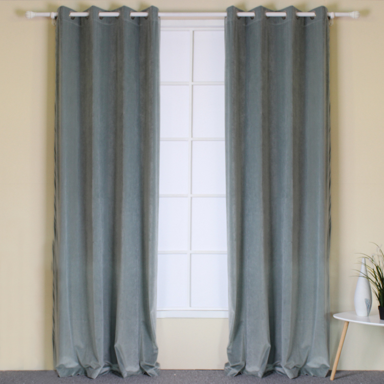 China Factory Direct Sale New Recyclable Drapery Velvet Curtains Drapes