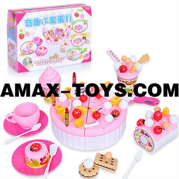ht-2392834 toys birthday cake Pretend toys birthday cake set for kids
