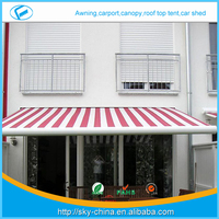 New High qualityNew 2014 new design caravan vinyl awning Prefab Electric Retractable door entrance awning
