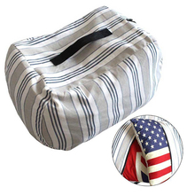Large durable cotton canvas stuffed animal bean bag storage chair