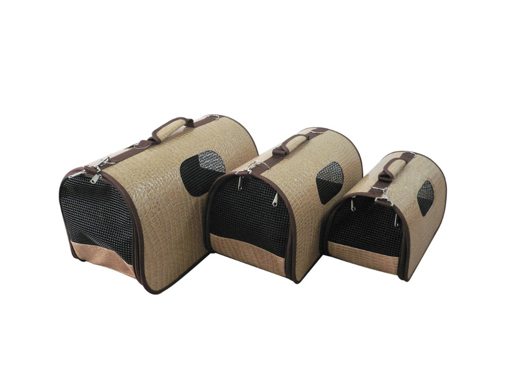 hot sale leather pet carrier