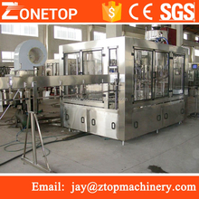 Zonetop Automatic 3-1 complete round pet plastic bottle ro water manufacturing process