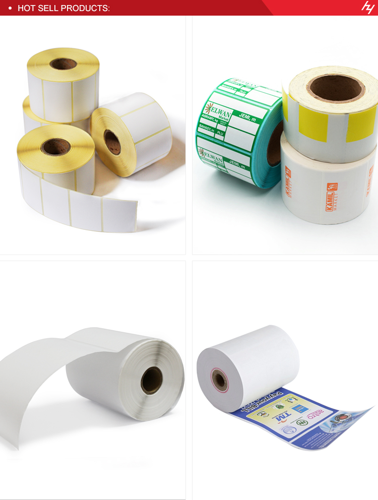 Thermal Paper Factory Direct Wholesale Prices 80x80x12mm stock lot thermal cashier paper roll