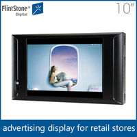 "Flintstone 10inch lcd advertising video counter display, 10"" indoor digital poster display, 10"" lcd screen advertising in shops"