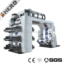 GYT6-600 HAS VIDEO 0.1mm Wide Web High Speed Flexo Printing Press For Paper Cup and Paper Bag,4 ,5 ,6 colors Kraft Paper Printin