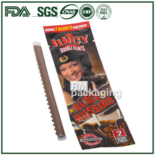 Customized ziplock blunt wrap packaging pouches for cigar bag for chilled storage