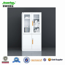 Guangzhou Jeanter factory modern steel office furniture gray color metal 2 door metallic furniture filing cabinet