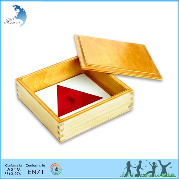 Mathematics handmade montessori toys Wooden Tray and Cards
