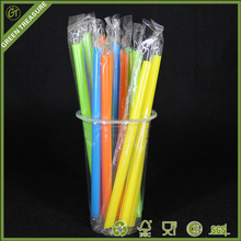 Novelty decorative drinking biodegradable pla drinking boba straws