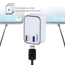 UNIVERSAL WORLD TRAVEL MOBILE PHONE ACCESSORIES DUAL PORT USB CHARGER ,QUALCOMM QUICK CHARGE 3.0 DUAL USB WALL CHARGER OUTLET