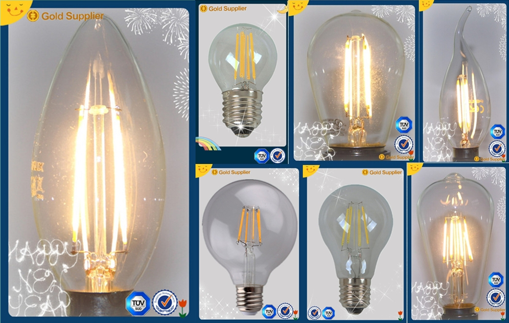 New product!!!Energy Saving C35 230V led bulb 5w E14/B15/E27/B22 2W3W4W5W6W LED Filament Bulbs