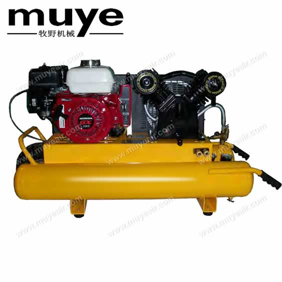5.5HP portable petrol engine gasoline piston air compressor gas powered door to door for USA
