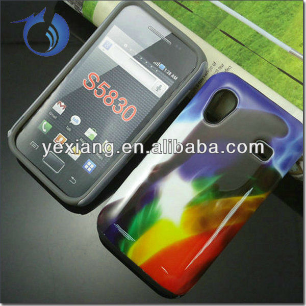 Wholesale two piece designed cell phone case for samsung ace s5830
