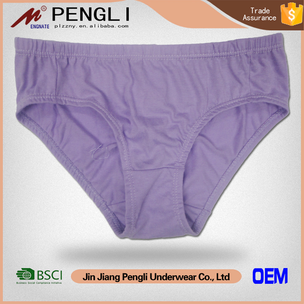 Hot selling women solid color polyester sex ladies underwear panty