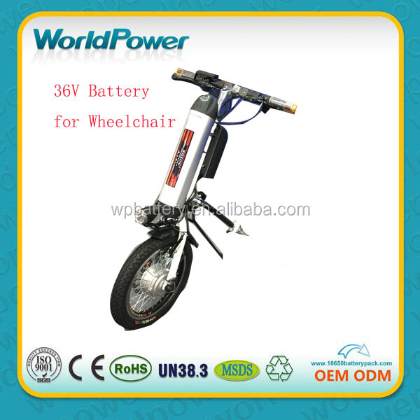 Mini wheelchair 36v 11.6Ah water bottle type lithium ion battery