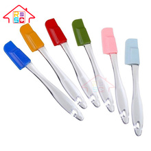 NBRSC Different Types of Kitchen Utensil Silicone Spatulas with Transparent Handle Set of 6