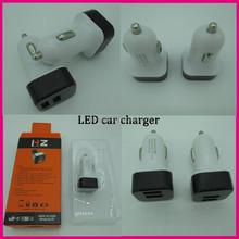 Factory Price selling High Efficiency 5V 2.1A Dual Ports LED Display USB Car Charger