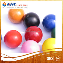 different color painted wooden balls
