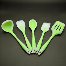 100% Food Grade Colorful Silicone Kitchen Utensils For Cooking 5 Pieces Silicone Spatula Utensil Set