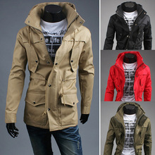 China Product Men's Long Polyester Windbreaker Wind Jacket Cheap Price
