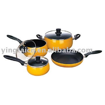 7pc Belly Shaped Cookware Set