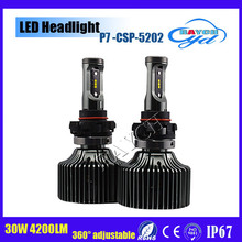 Fanless P7 LED Auto Car Headlight H4 4200LM 30W Aftermarket Bright Car LED