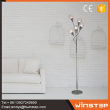 Elegent hollow out G9 arm standing floor lamp