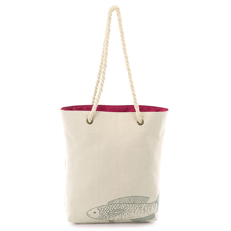 Dust-proof canvas zipper pouch grocery bag silver tote bag