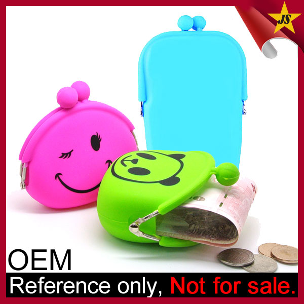 Wholesale cheap silicone coin purse women clasp wallet