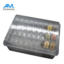 custom clear PET plastic macarons packing box macaroons package blister packaging tray