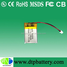 Data Power 3.7v heated clothing battery with UL CE FCC approved