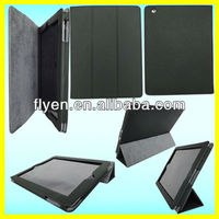 Folding Magnetic PU Leather Tri folio Stand Case Cover for iPad 4 3 2 Wholesale Good Price