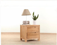 2015 natural color wooden nightstands furniture