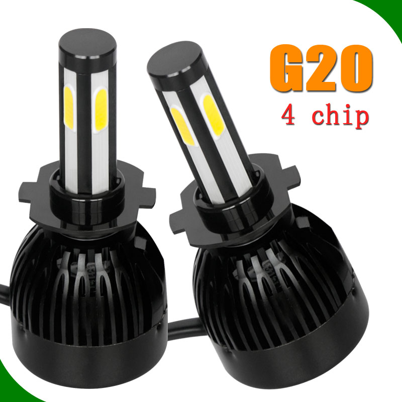 12v Auto headlamp motorcycle cob led lights 40w 35w 55w 75w 100w hid xenon lamp led car headlamp h4 h7 h11 9005 9006 h13 hi/lo