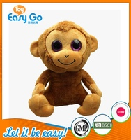 Customized big eyes plush monkey toys