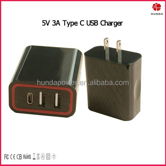 USB Type C Travel Charger 5V 3A 28W Rapid Wall Charger for all USB C Supported Devices