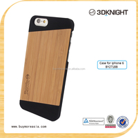 Real Bamboo Wood Material for Apple i Phone 6 Compatible Brand wood cell phone case