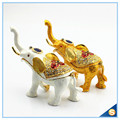 Enamel Craft Creative Antique Elephant Trinket Box Home Decoration Jewelry Box SCJ722