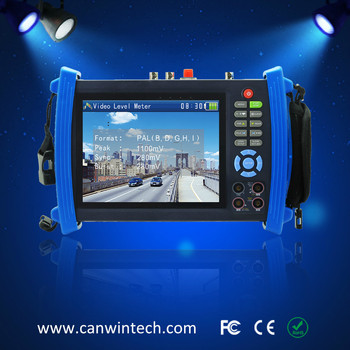 7 inch touch screen CCTV tester monitor with digital multimeter and PTZ control