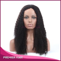 "malaysian virgin hair full lace wig 16"" hot saxy quality kinky curl full lace mohawk wig"