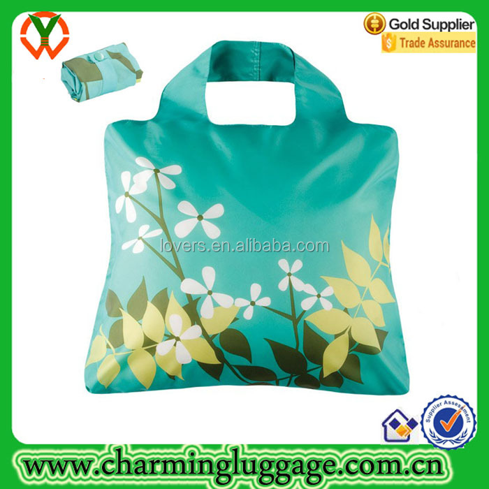 NYLON Reusable Grocery Shopping Bag Ripstop Nylon Foldable Tote Bag