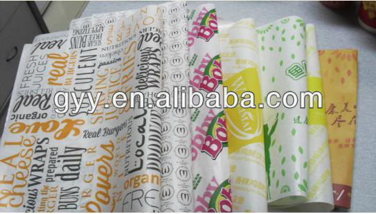 Printed sandwich paper /greaseproof paper 2013