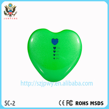 100% real capacity manual for IPHONE 6 love heart portable power bank 5200 mah CE&FCC&ROHS