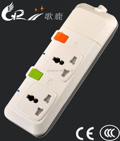 Universal type multi way electric extension socket with child protection device