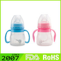 Rohs Certified Attractive Custom Printing Environmental Protection Non-Toxic Baby Nipples Baby Feeding Bottle