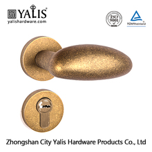 Lever handle lock front door lock and handles on rose with escutcheon