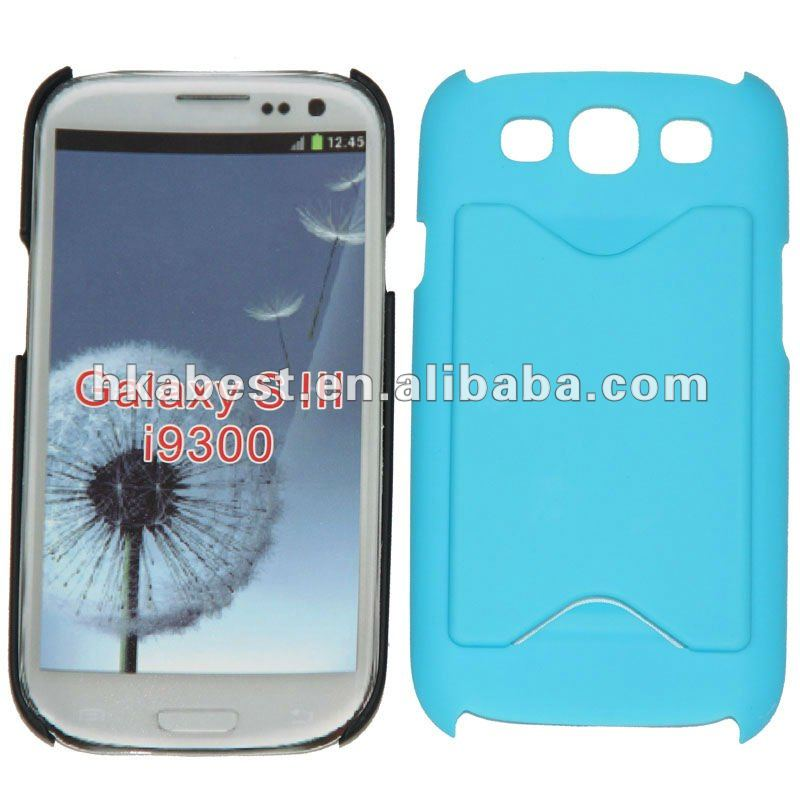 Rubberized Hard Cover Case with card slot for Samsung Galaxy s3 i9300
