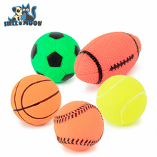 Factory direct multi-color Squeaky vinyl football dog toys